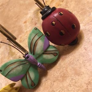 Other - Adorable set of Shower Curtain Hooks🐞🦋🌼